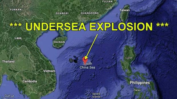 【中国】南シナ海で巨大水中爆発が発生?