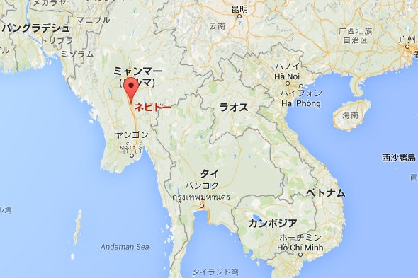 ミャンマー、地図