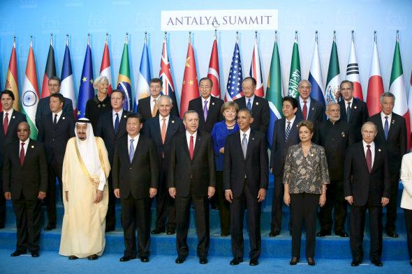 トルコ、G20首脳の集合写真1