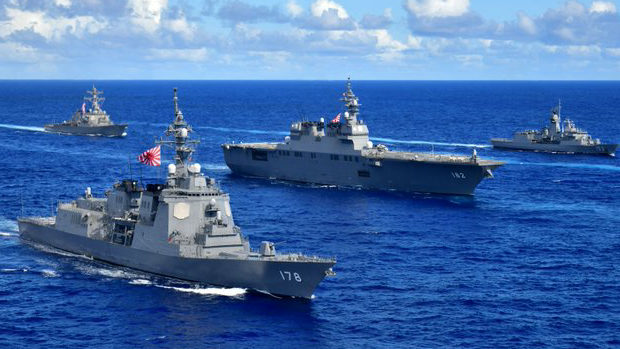 【韓国】日米豪韓共同訓練、海上自衛隊が「旭日旗」使用!韓国海軍が公認したと批判!