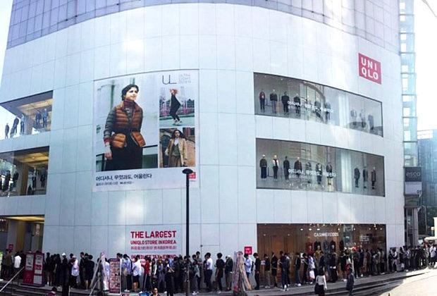 【韓国】日本製品不買はどこへ?「ユニクロ」の無料配布イベントに長蛇の列で大盛況-2