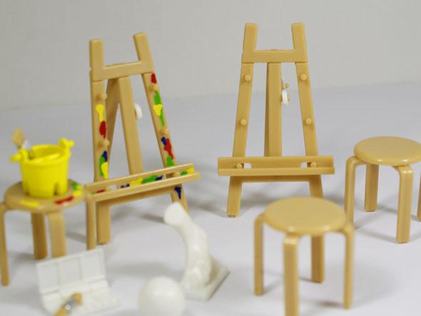 「美術室 折りたたみイーゼルと丸椅子」★全5種セット2