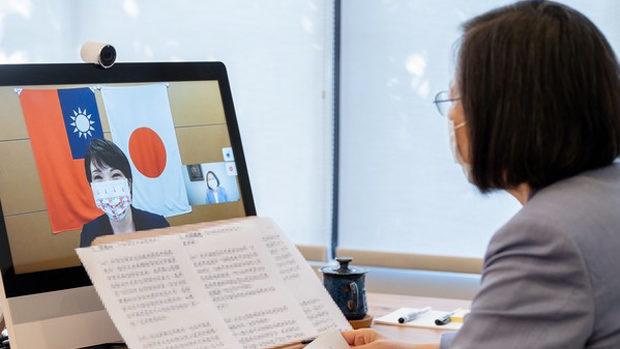 自民・高市早苗議員、台湾民進党の「蔡英文」主席とWeb会談