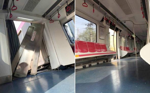 【中国】北京地下鉄、試験走行中に脱線!6