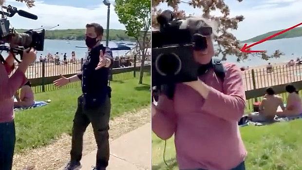 米国、記者「人々はマスクをしてません」通行人「おたくのカメラマンもね」