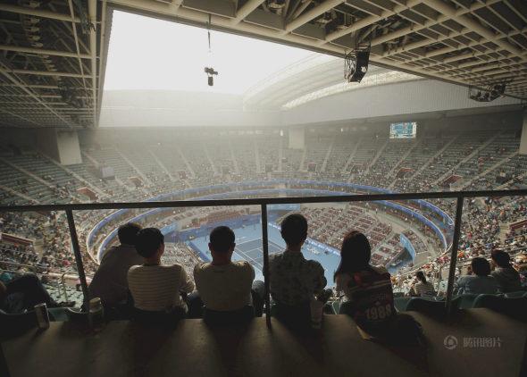 中国オープンテニス、観客はスモッグの中で観戦!1