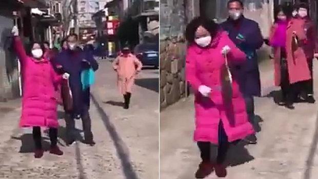 中国、火の用心ならぬ「ウイルス用心」!おばちゃんがドラ叩き街を練り歩く