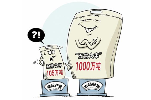 中国でブランド米偽装が横行