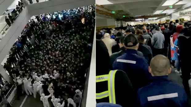 中国、上海浦東空港で感染者確認、全職員を隔離、PCR検査