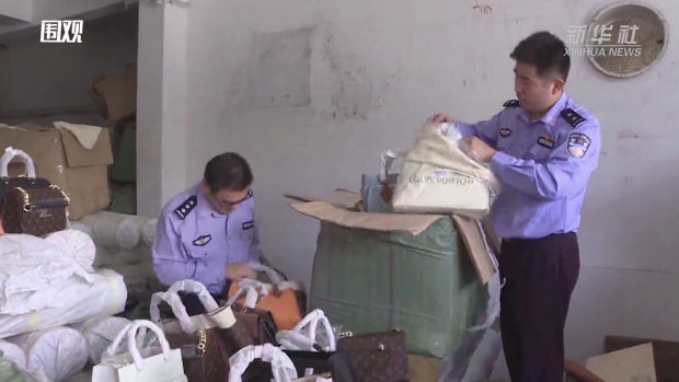 国、また!偽ブランドバッグ13000超を押収!総額2億元相当!57人を逮捕