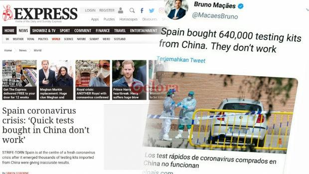 【スペイン】中国製の新型コロナ検査キット、80%以上あるはずの感度が30%、返品へ
