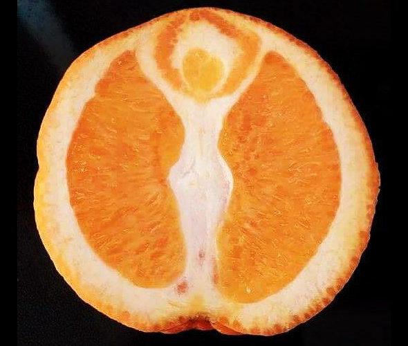 【画像】オレンジの中から女神が出現!