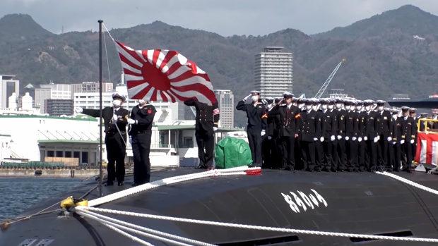 海上自衛隊、そうりゅう型潜水艦11番艦「おうりゅう」引渡式・自衛艦旗授与式