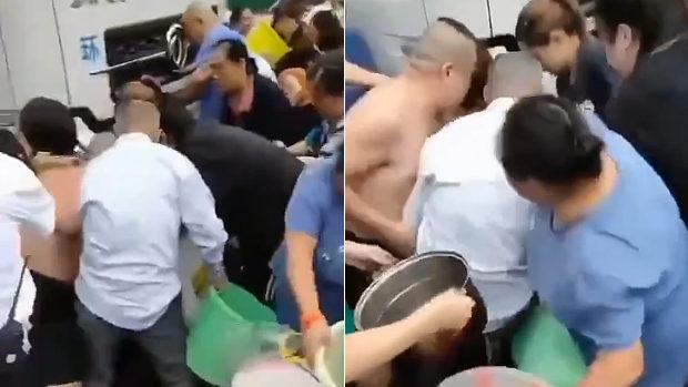中国、断水で給水車に群がる住民たち、我先にと水の大争奪戦が始まる!