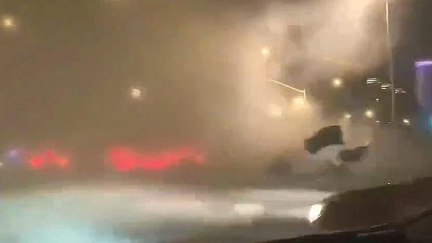 中国、江蘇省で突然、超級「嵐」が発生!
