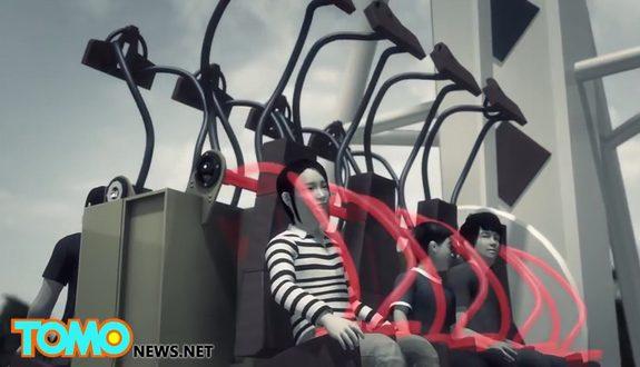 中国、遊園地の絶叫マシンが安全ベルト着用前に起動!乗客落下!1