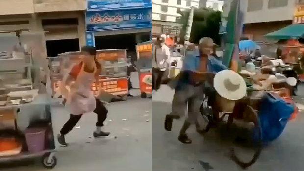中国、「悪徳城管がキタぞー!」露天商が嫌がらせを恐れて一斉に逃げ出す!