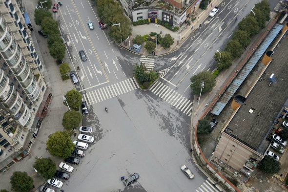 【中国】まさかの横断歩道の中を緑化!3