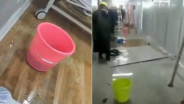 中国、10日で建設した武漢の臨時病院、5日で大規模な水漏れが発生!