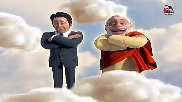 アニメ、モディ首相が習近平主席をかめはめ波で撃破!安倍首相も登場!