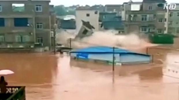 中国、通告なしでダム放水し洪水に、多数が流される!当局「死傷者なし」