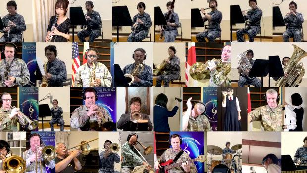 空自+米空軍+音楽家+中学生、テレワーク演奏!「カウボーイビバップテーマ」