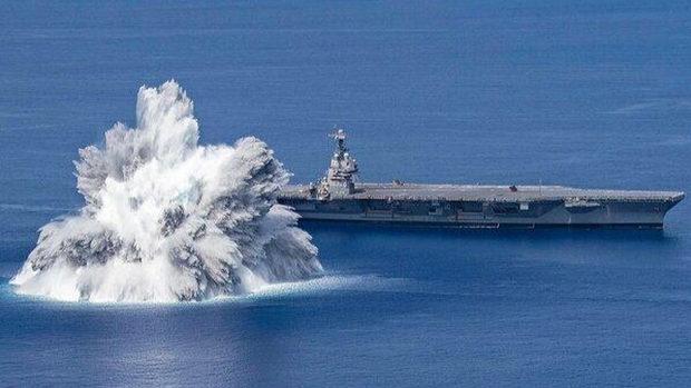 米海軍、空母「ジェラルド・R・フォード」の耐衝撃試験