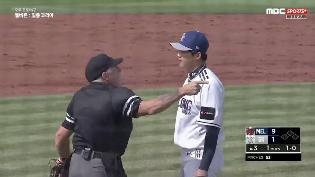 豪州、ウインターリーグで死球当てた韓国人投手が逆ギレ!悪態!ツバ吐く!