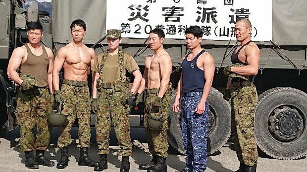 【自衛隊】キャ~!筋肉隆々の自衛官をご紹介「鍛えてるんじゃない。備えているんだ。」