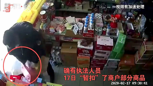 中国、疫病時に勝手に営業した店に城管来て、取り締まりと称し店の商品を強奪