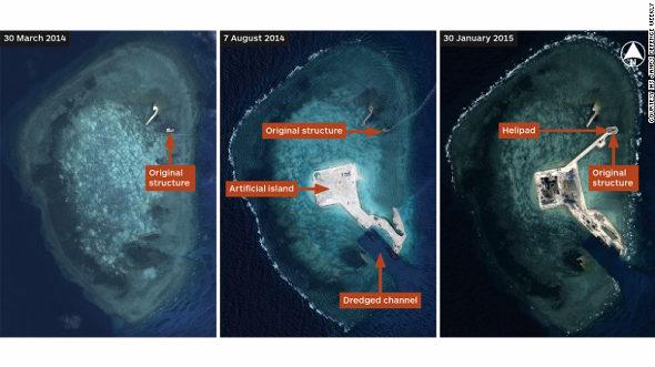【中国】またまた南沙諸島で大規模な埋め立てと建設!