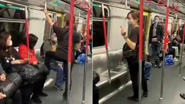 香港、地下鉄でまた中国人が!座席を踏みつけ傲慢な態度!乗客ドン引き