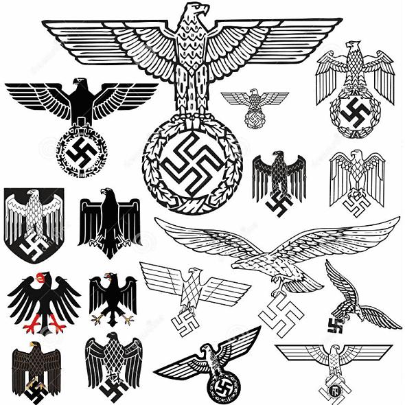 ナチス・ドイツの国章のイーグル