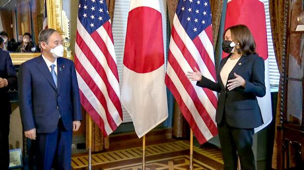 ホワイトハウスに日本の首相を迎えたのはハリス副大統領