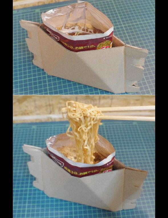 【画像】「袋ラーメン」に直接湯を注いで食べる方法1