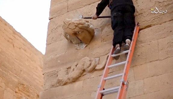 「IS」が世界遺産「ハトラ遺跡」を破壊1