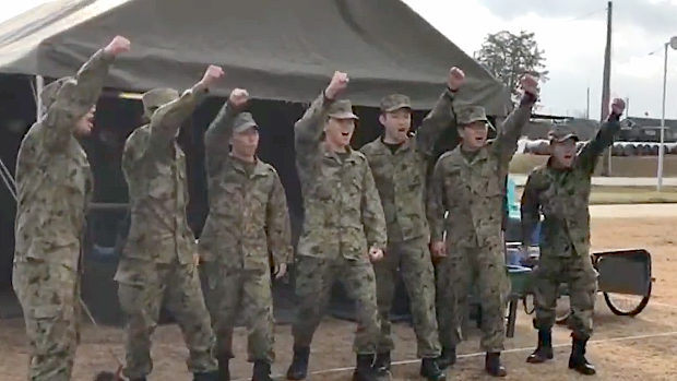 陸上自衛隊、野外炊事競技会を実施!