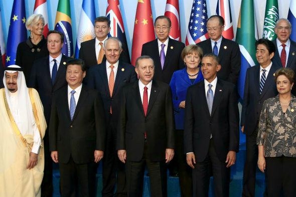 トルコ、G20首脳の集合写真2