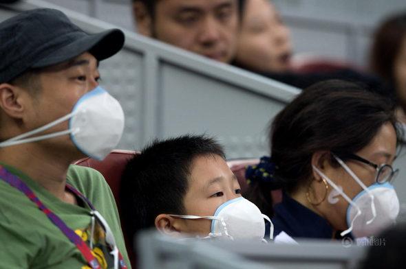 中国オープンテニス、観客はスモッグの中で観戦!4