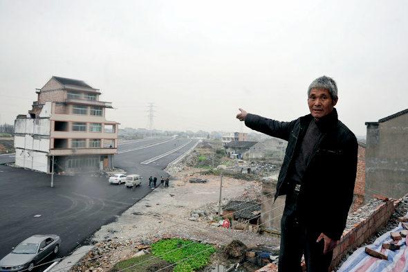 中国、「最もハチャメチャな立ち退き拒否」 3