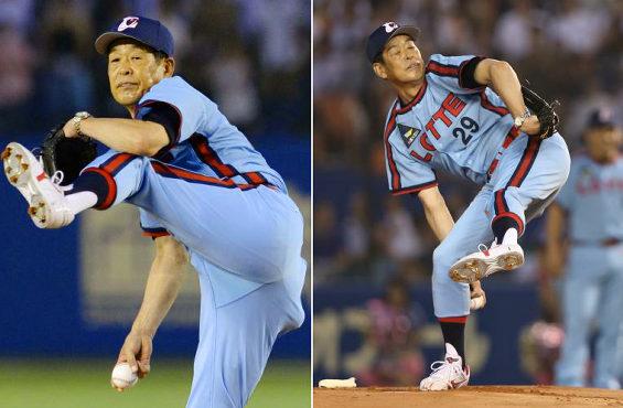 63歳「村田兆治」135キロ豪球始球式