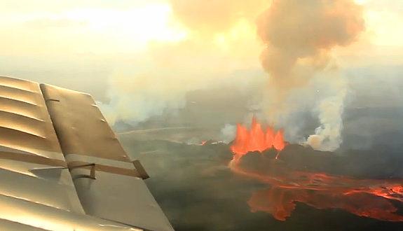 アイスランドの火山噴火