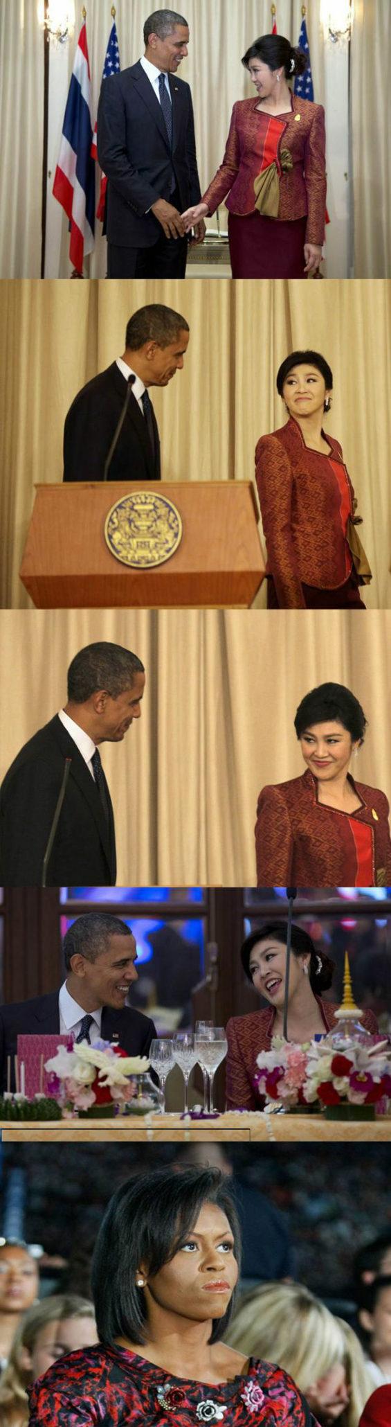 オバマ大統領とタイのインラック首相