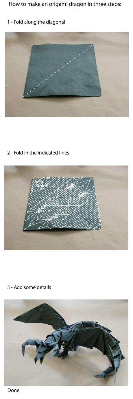 すべての折り紙 折り紙難しい龍 : ... 折り紙「ドラゴン」の作り方
