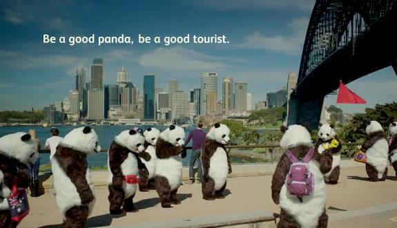 中国、CCTVが公共広告 GOOD PANDA