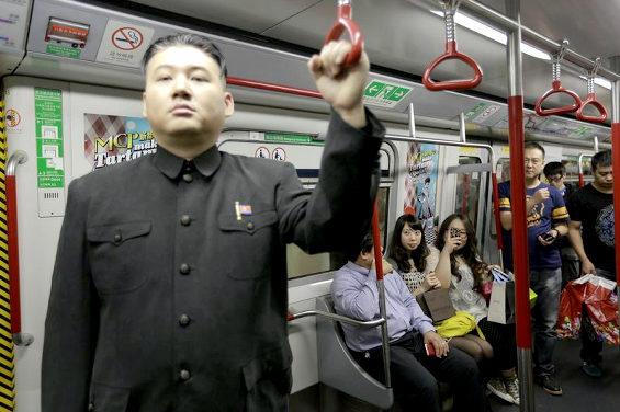 香港、金正恩のそっくりさん2
