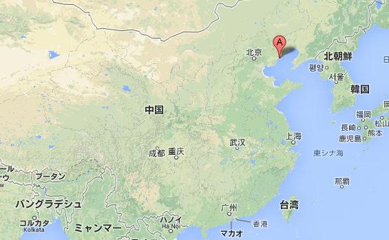 【中国】 河北省秦皇島市 地図