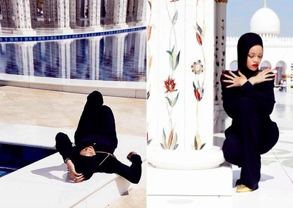 リアーナ、「不謹慎なポーズ」でモスクから退去3