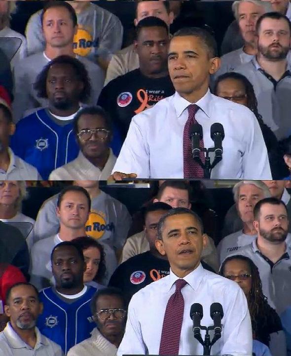 【画像】 オバマ大統領の演説写真が心霊写真でちょっと怖い・・
