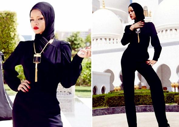 リアーナ、「不謹慎なポーズ」でモスクから退去2